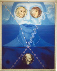 Gezien in het licht van moeder natuur, 2000, acryl op doek in acrylaat lijst, 90 x 70 cm